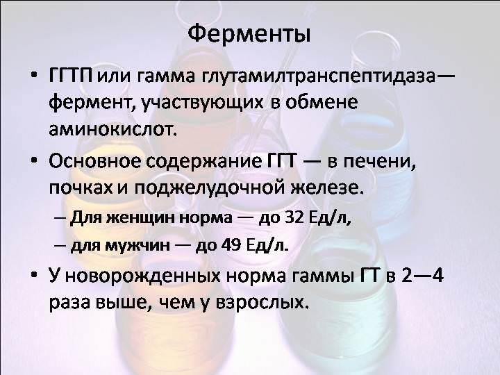 расшифровка ггт